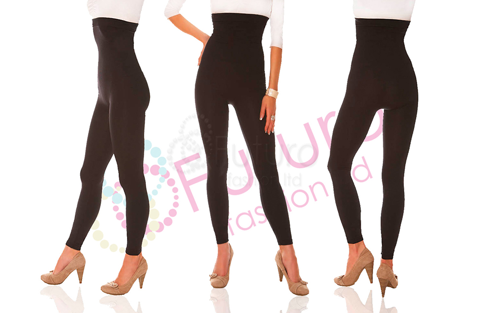 b1dca16795 HIT  Anti cellulite slimming leggings HQ Stretchy Black Sizes 8 14 ...