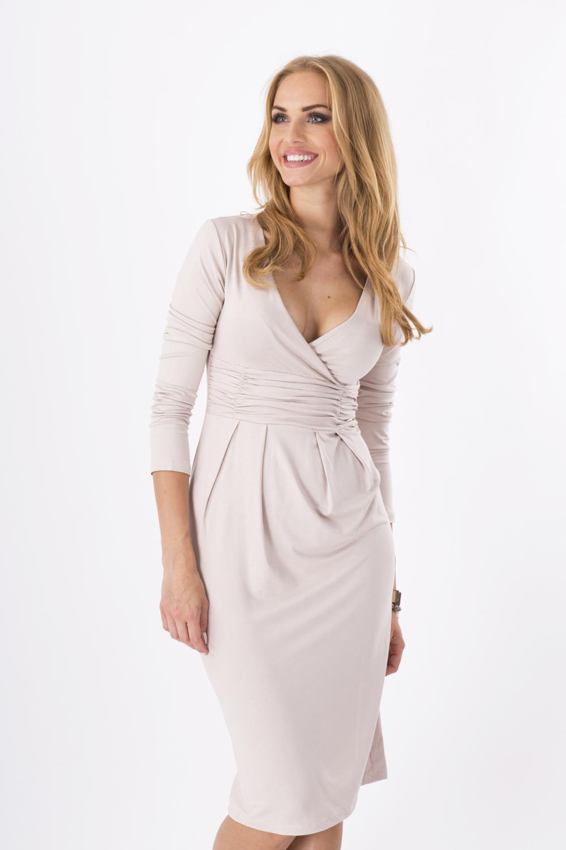 Damen Wickelkleid V-Ausschnitt Cocktail Trikot Büro Bubble Kleid Größe 8-18 6801
