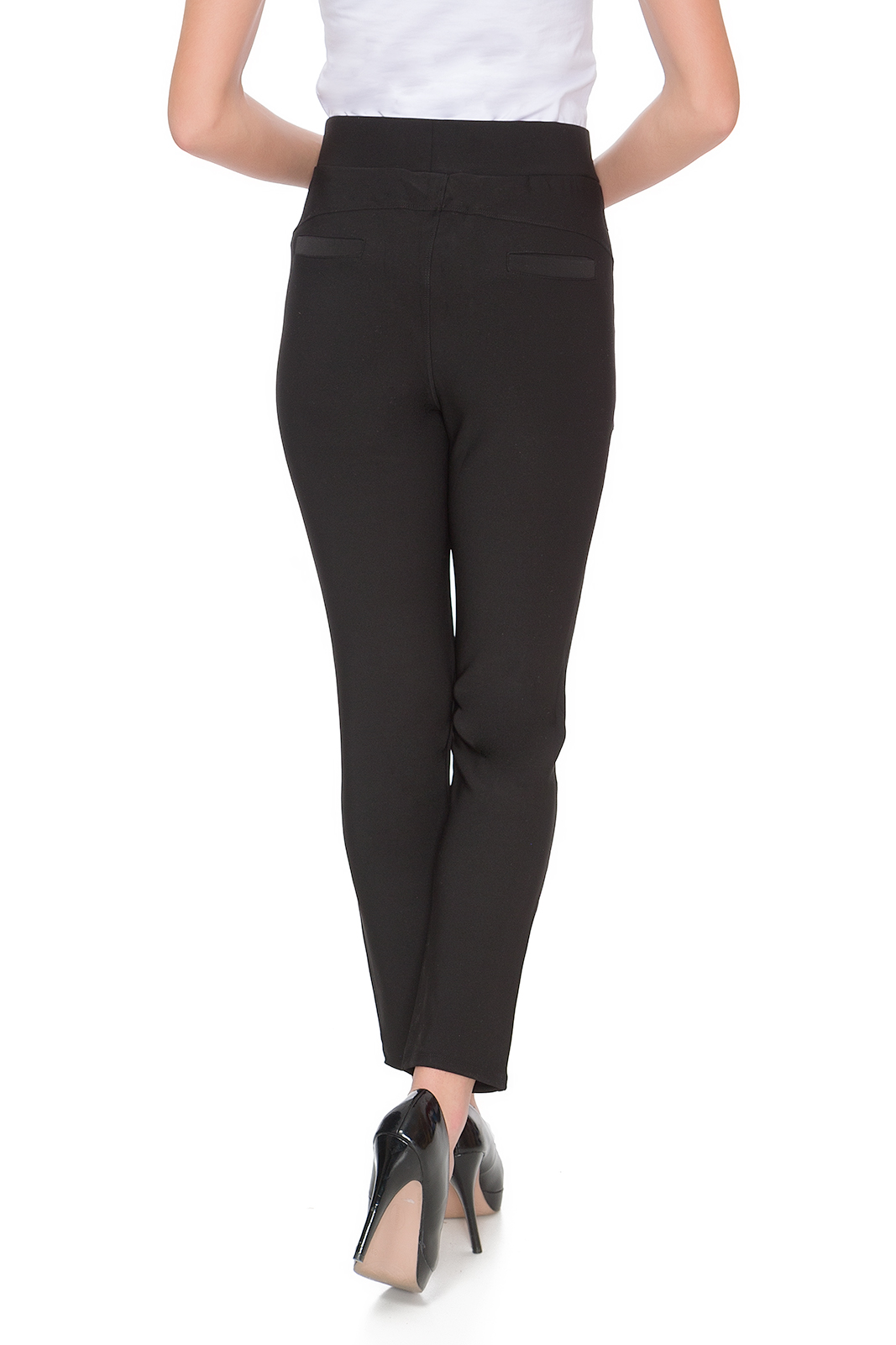 Women/'s Ankle Length Casual Pants Elegant High Waist Trousers Size 10-16 DN18024