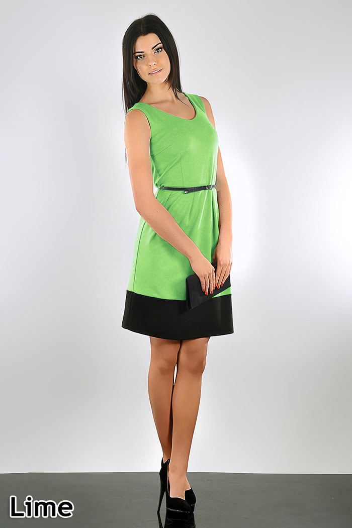 Lovely Women/'s Summer Flippy Dress Sleeveless Scoop Neck Size 8-14 FA110