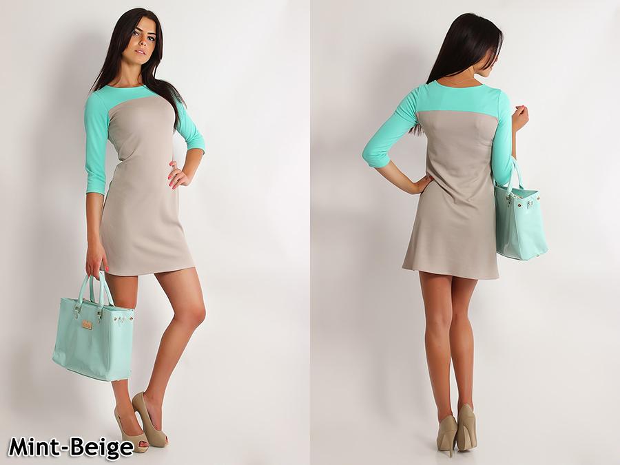 Women/'s Fashionable 2-Colors Dress Tunic Style 3//4 Sleeve Size 8-16 FA202