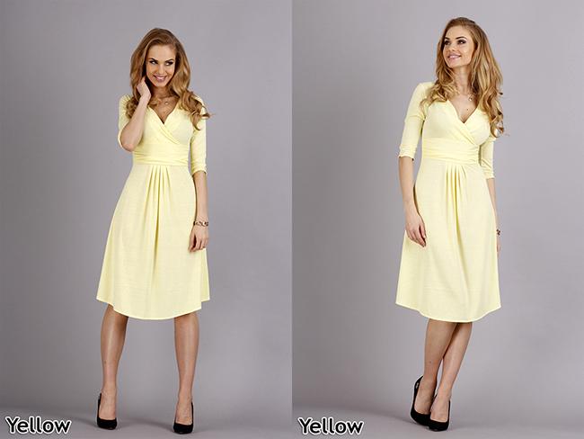 Women's Elegant & Sensible Dress 3/4 Sleeve V Neck Tunic
