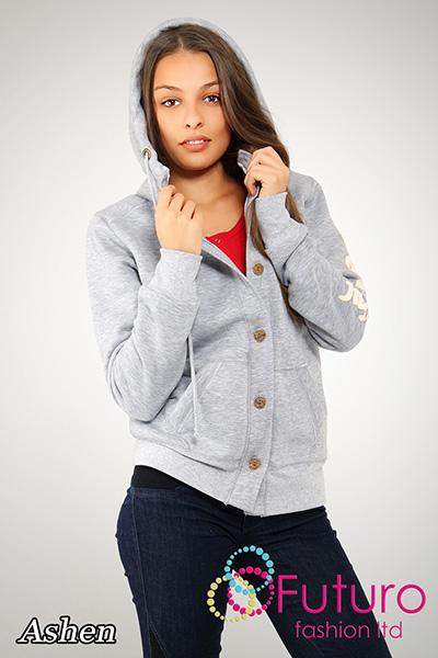 "Women/'s Thick /""BEAUTIFUL/"" Hooded Girls College Style Fleece Jacket FT1053B"