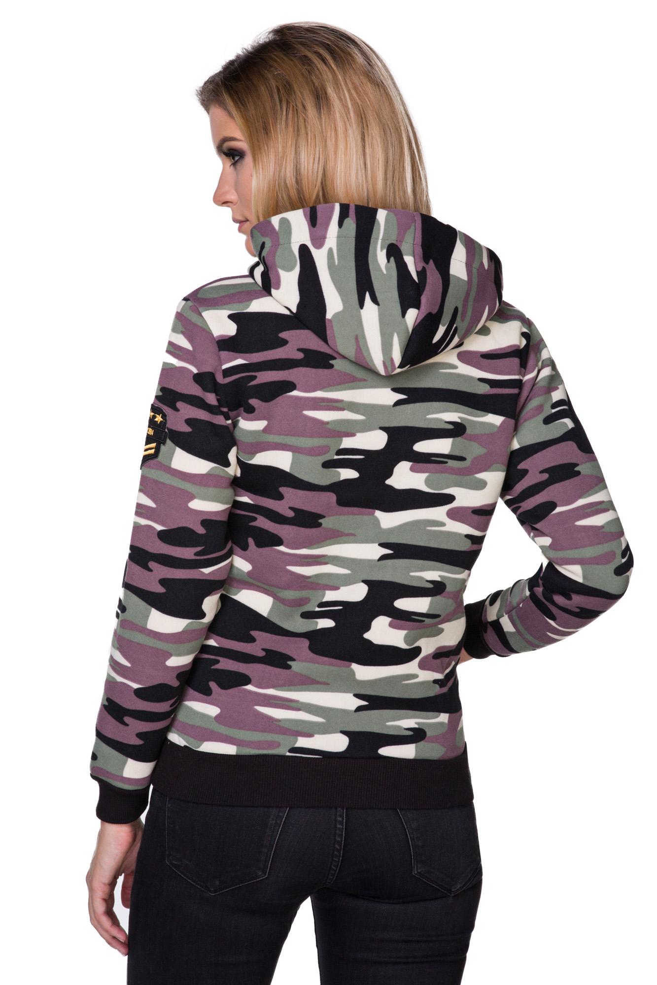 Camouflage Hoodie Damen