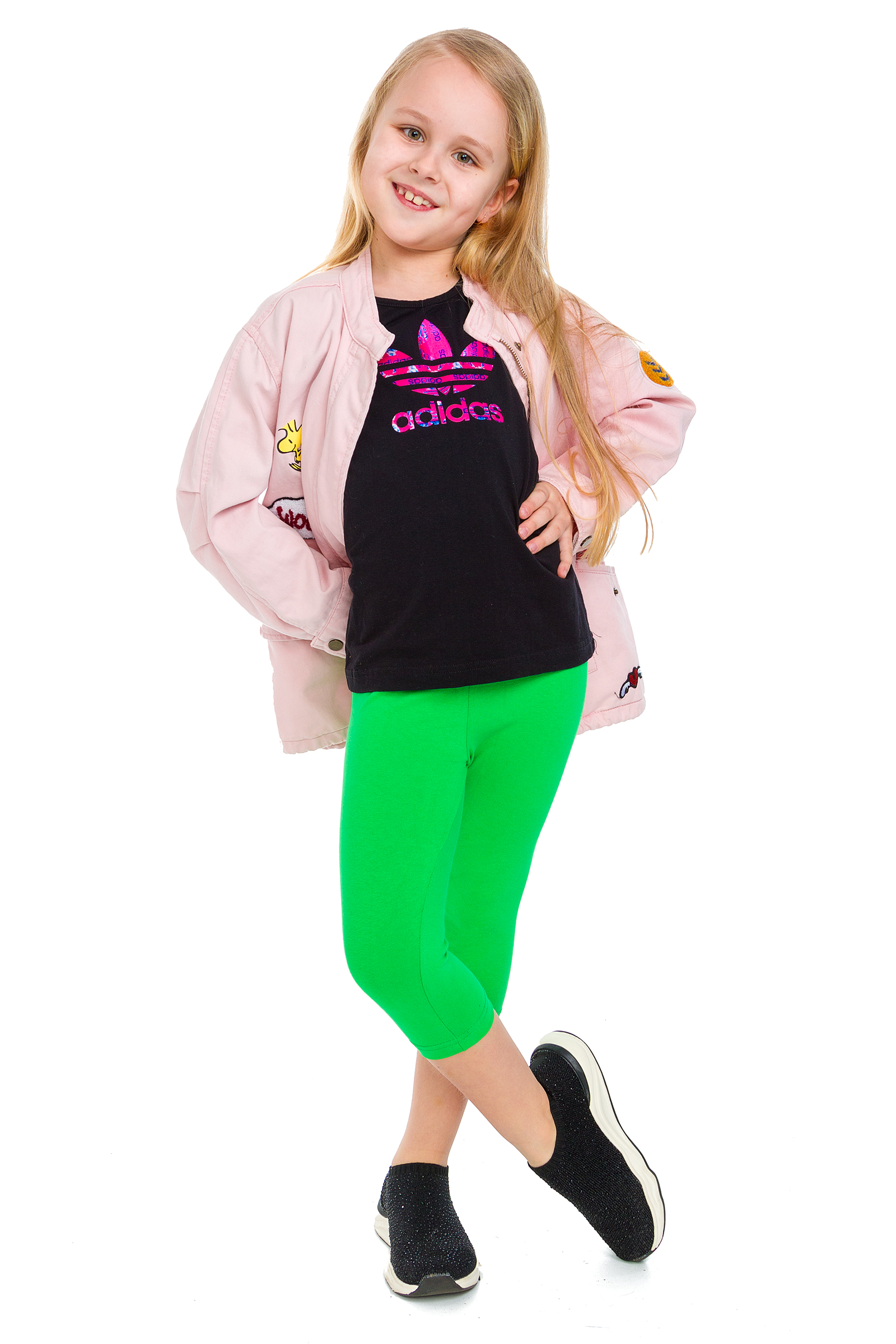 Girls Capri Soft Cotton Leggings Kids Stretchy 3//4 Pants Age 2-13 Years CHILD34